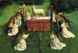 Jan van Eyck, Ołtarz Gandawski lub Adoracja Mistycznego Baranka, XV w.