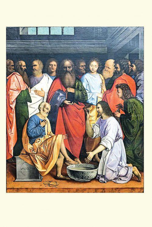 4. Giovanni Agostino da Lodi, Chrystus obmywający stopy uczniom, XVI w.